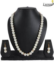 Buy Alluring White Pearls Necklace necklace-set online