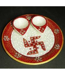 Buy Diwali pooja thali Marble other-home-accessory online