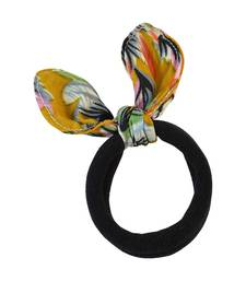 Buy Plain Black Fabric Hair Rubber Band for Women rubber-hair-band online