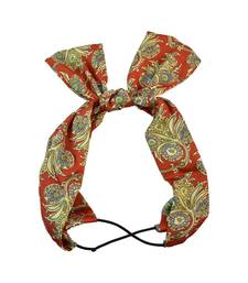 Buy Printed Red Fabric Hair Band for Women Other online