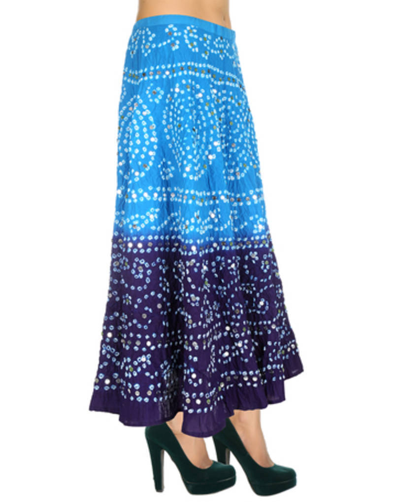 buy sky blue cotton and cambric skirts