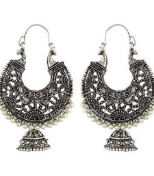 Buy Black Metal Hoop Earrings  hoop online