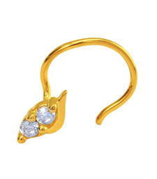Buy Gold Plated Beguile Beauty Nosepin with CZ for Women nose-ring online