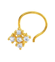 Buy Gold Plated Mystical Charm Nosepin with CZ for Women nose-ring online
