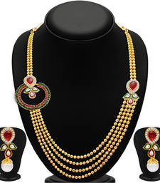 Buy Enchanting Four Strings Gold Plated Necklace Set necklace-set online