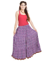 Buy Sunshine Rajasthan Ethnic Multi Floral Pure Cotton Skirt cotton-lehenga online