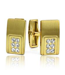 Buy Mahi Gold Liana Cufflinks with Swarovski Elements gifts-for-boyfriend online