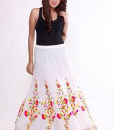 Buy Ethnic Flared Multicoloured Skirt skirt online