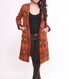 Buy Ethnic Cotton Ikat Jacket other-apparel online