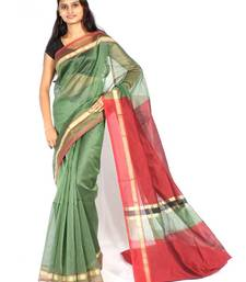 Buy Supernet cotton zari contrast saree cotton-saree online