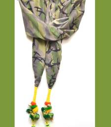 Buy Designer Candy olive green Birdie Scarf stole-and-dupatta online