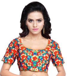 Buy multicolor Color Gamti work Fashionable designer Blouse Piece blouse-fabric online