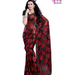 Buy Stunning Party Wear Saree made from Brasso Fabric brasso-saree online