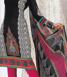 Buy Crepe dress material elegant designer unstitched salwar suit d.no 8003 dress-material online