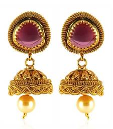 Buy Fashion Forward Gold plated Antique Earring jhumka online