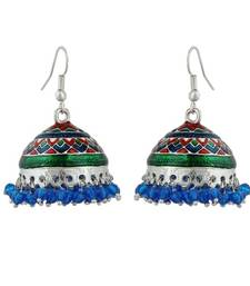 Buy Golden plated color beads earring jhumka online