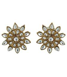 Buy Golden plated kundan earring stud online