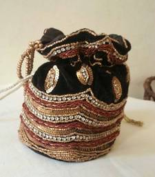 Buy BLACK GOLDEN WORK POTLI potli-bag online