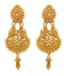 Buy Traditional Ethnic Gold Plated Teardrop Dangler Earrings For Women danglers-drop online