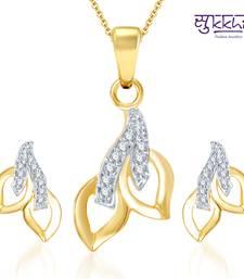 Buy Sukkhi Glimmery Gold and Rhodium Plated CZ pendants Set Pendant online