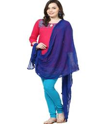 Buy Chiffon Dupatta Royal Blue stole-and-dupatta online