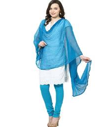 Buy Chiffon Dupatta Deep Turquoise stole-and-dupatta online