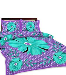 Buy Multi-Color Floral Printed Double Bedsheet n Pillow Covers 368 bed-sheet online