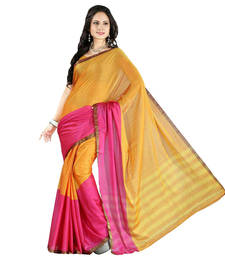 Buy Pink hand_woven cotton saree with blouse cotton-saree online