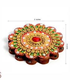 Buy Floral design Kumkum Chopra made in wood and clay other-home-accessory online
