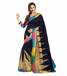 Buy Exclusive Black color Bhagalpuri saree bhagalpuri-silk-saree online