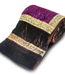 Buy Jaipuri Dark Brown Printed Double Bed Velvet Quilt Deepawali Special Gift 404 razai online