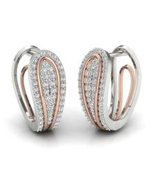 Buy Rich Platinum Plated Swarovski Crystal Sterling Silver Chandbali Earring hoop online