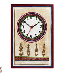 Buy Diwali Gifts Artistic Wall Clock with Dhokra Work birthday-gift online