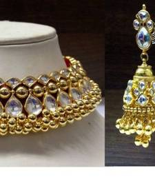Design no. 8B.2167....Rs. 13500...jadau choker...pre order set -  made in 10 days after payment. shop online