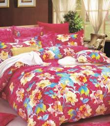 Buy Pink Floral Printed Luxury Flat Bedsheet from Just Linen bed-sheet online