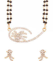 Buy Gold Plated Double String Mangalsutra Set Embellished With Cz mangalsutra online