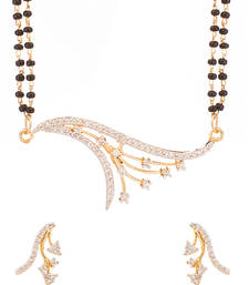 Buy Twinkle Branch Cz Mangalsutra Set With Double Chain mangalsutra online