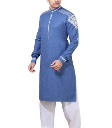 Buy Navy Pathani Suits kurta-pajama online