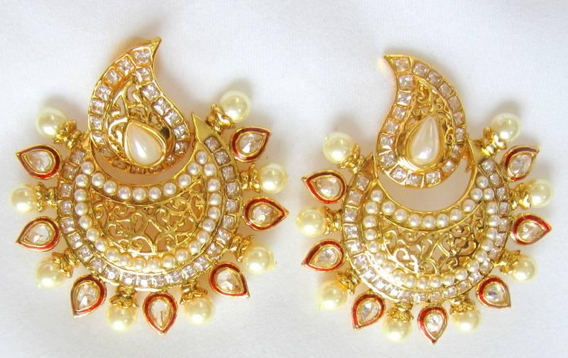 Buy Gold Pearl Ram Leela Dangler Bollywood Chandelier