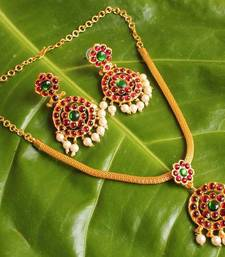 Buy Gorgeous traditional temple jewel necklace set necklace-set online
