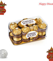 Buy 16 Pc Ferrero Rocher Chocolate with coin diwali-chocolate online