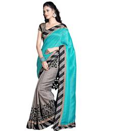 Buy Grey Bhagalpuri silk Casual saree with blouse bhagalpuri-silk-saree online