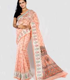Buy Chanderi fancy printed Aanchal Border saree cotton-saree online
