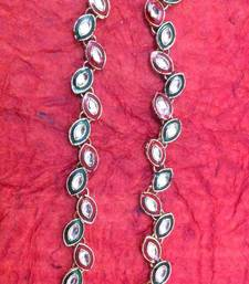 Buy Maroon Green Leaf Kundan Like Payal or Anklet- Ethnic Indian Jewelry h130rg anklet online