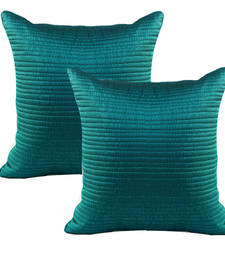 Buy Charming Blue Quilted Dupion Silk Cushion Cover Set pillow-cover online