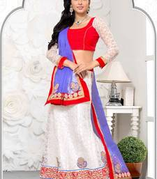 Buy blue net wedding  lehenga choli lehenga-choli online
