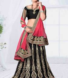 Buy pink net wedding  lehenga choli lehenga-choli online