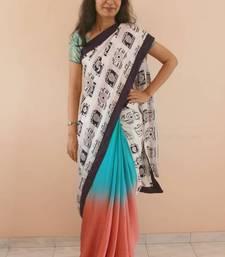 Buy Camera saree in chiffon and cotton satin chiffon-saree online
