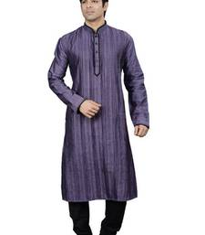 Buy purple cotton-linen  kurta gifts-for-husband online
