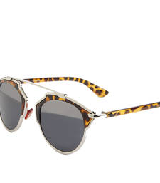 Buy Half mirrored Leopard Print Sunglasses sunglass online